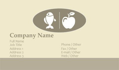 Tan and Brown Nutrition Business Card Template